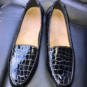 Clark's patent leather shoes